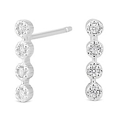Simply Silver - Sterling silver mini stick cubic zirconia earring