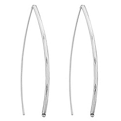 Simply Silver - Sterling silver textured thread through earring