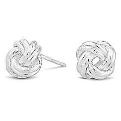Simply Silver - Sterling silver knot stud earring