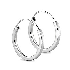 Simply Silver - Sterling silver chunky sleeper earring