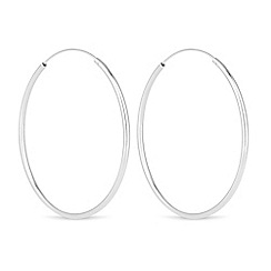 Simply Silver - Sterling silver large hoop earring