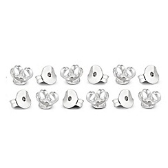 Simply Silver - Sterling silver set of twelve butterfly earring backs