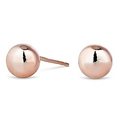 Simply Silver - Rose gold plated sterling silver ball stud earring