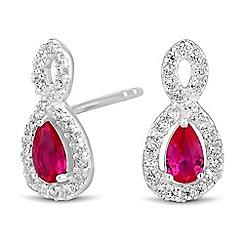 Simply Silver - Sterling silver cubic zirconia infinity twist earring
