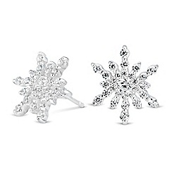 Simply Silver - Sterling silver cubic zirconia starburst earring