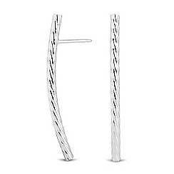Simply Silver - Sterling silver textured stick drop earring