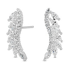 Simply Silver - Sterling silver cubic zirconia climber earring