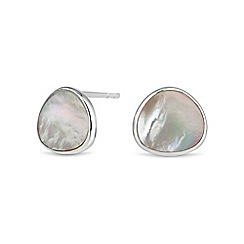 Simply Silver - Sterling silver mother of pearl stud earring