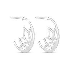 Simply Silver - Sterling silver cut out flower hoop earring