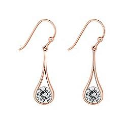 Simply Silver - Sterling silver teardrop drop earring