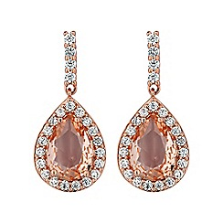 Simply Silver - Rose gold plated sterling silver morganite earring