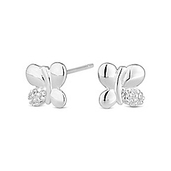 Simply Silver - Sterling silver butterfly stud