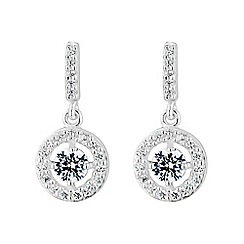Simply Silver - Sterling silver halo pave earring