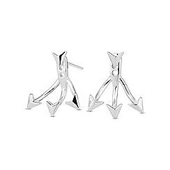 Simply Silver - Sterling silver arrow earring