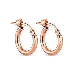 Simply Silver - Rose gold plated sterling silver mini hoop earring