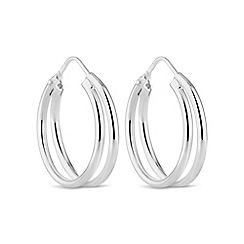 Simply Silver - Sterling silver double hoop earring