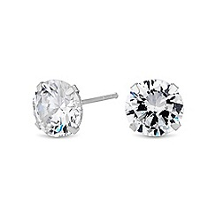 Simply Silver - Sterling silver classic cubic zirconia earring