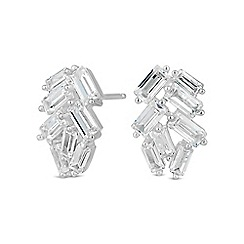 Simply Silver - Sterling silver multi cut stud earring
