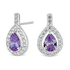 Simply Silver - Sterling silver peardrop stud earring