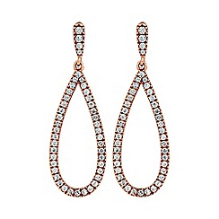 Simply Silver - Rose gold plated sterling silver pave earring