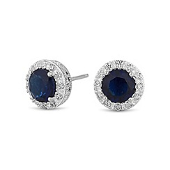 Simply Silver - Sterling silver blue clara stud earring