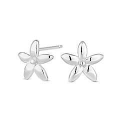 Simply Silver - Sterling silver flower stud earring