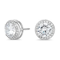 Simply Silver - Sterling silver cubic zirconia clara stud earring