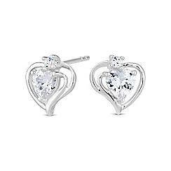 Simply Silver - Sterling silver open heart swirl stud earring