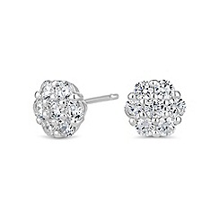 Simply Silver - Sterling silver flower stud earring
