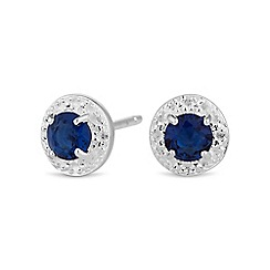 Simply Silver - Sterling silver blue mini clara earring