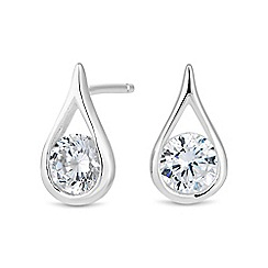 Simply Silver - Simply Silver Sterling silver teardrop stud earrings