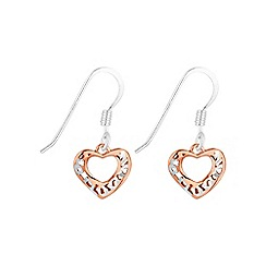 Simply Silver - Sterling silver filigree heart drop earring