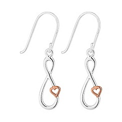 Simply Silver - Sterling silver infinity heart earring