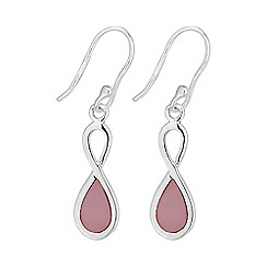 Simply Silver - Sterling silver infinity drop earring