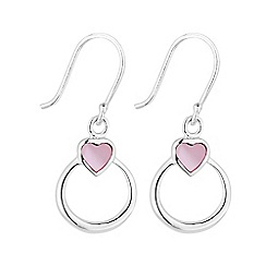 Simply Silver - Sterling silver open heart drop earring