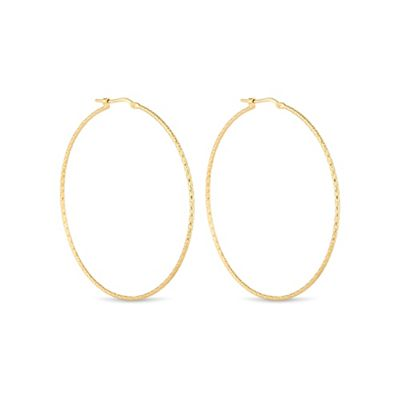 Simply Silver Gold plated sterling silver large hoop