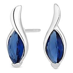 Simply Silver - Sterling silver cubic zirconia twist earring