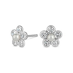Simply Silver - Sterling silver pearl stud earring