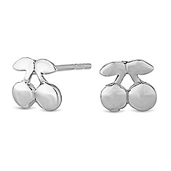 Simply Silver - Sterling silver cherry earrings
