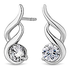 Simply Silver - Sterling silver swirl earrings