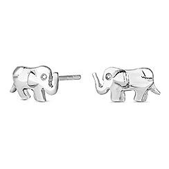 Simply Silver - Sterling silver elephant stud earrings