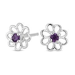 Simply Silver - Sterling silver open flower earrings