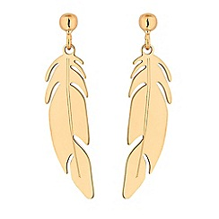 Simply Silver - Sterling silver feather drop earrings