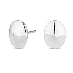 Simply Silver - Sterling silver oval stud earrings