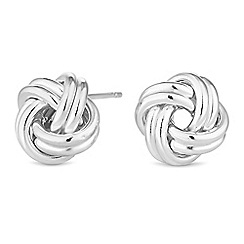 Simply Silver - Sterling silver knot stud earrings
