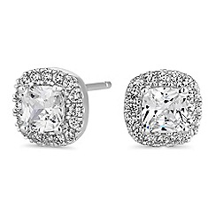 Simply Silver - Sterling silver square clara earrings