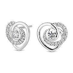 Simply Silver - Sterling silver heart twist earrings