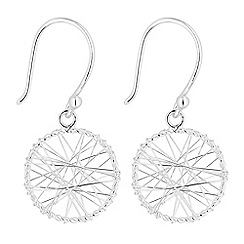 Simply Silver - Sterling silver circle wrap earrings