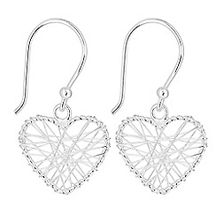 Simply Silver - Sterling silver heart wrap earrings