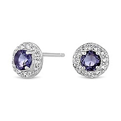 Simply Silver - Sterling silver mini clara stud earrings